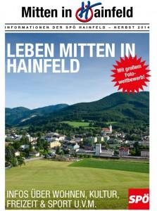 Mitten in Hainfeld - Herbst 2014 PDF Datei