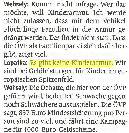 Zeitungsausschnitt - Magazin Profil vom 29.02.2016